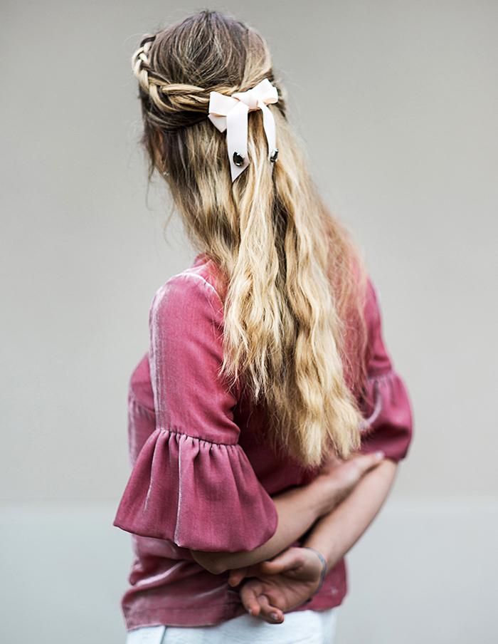 Blouse Juliette rose Aurore Gwladys