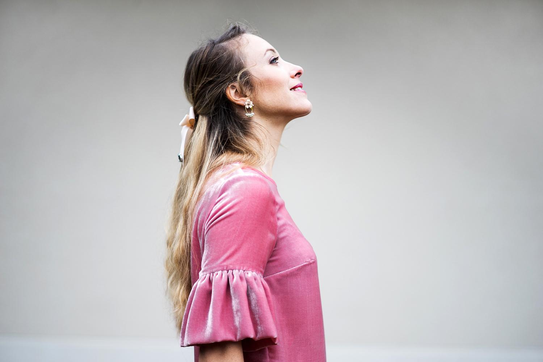 Blouse Juliette en velours de soie Aurore Gwladys