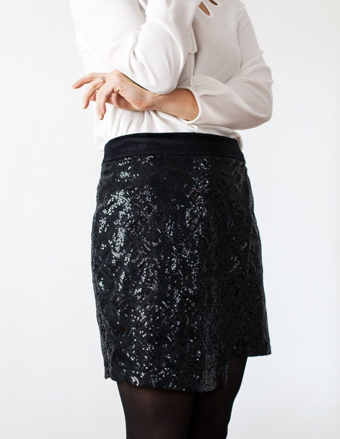 Jupe noire Eva Aurore Gwladys