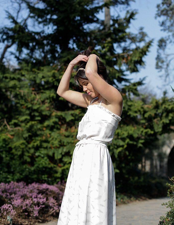 Robe Ines blanche Aurore Gwladys
