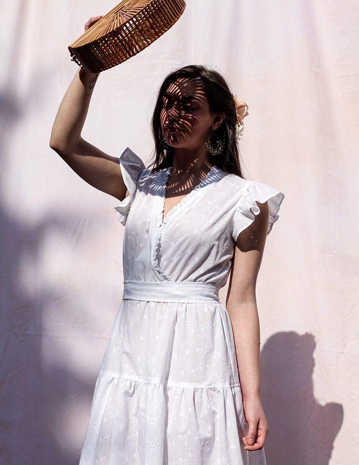 Robe blanche Eugenie Aurore Gwladys