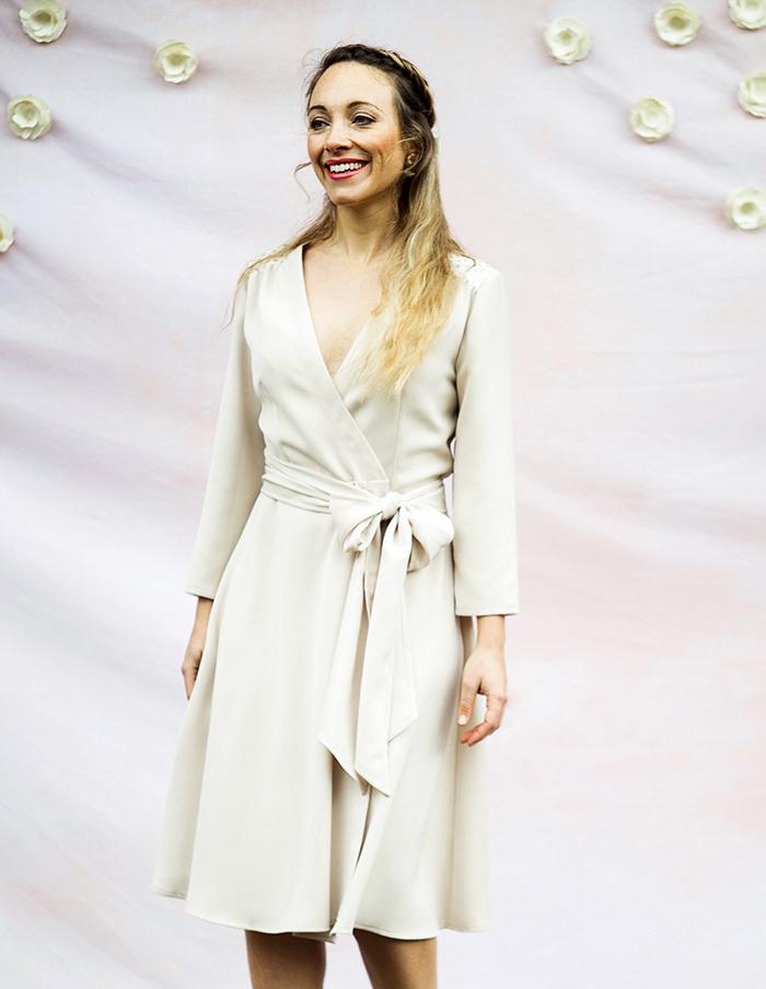 Robe porte-feuille Valentine de face Aurore Gwladys
