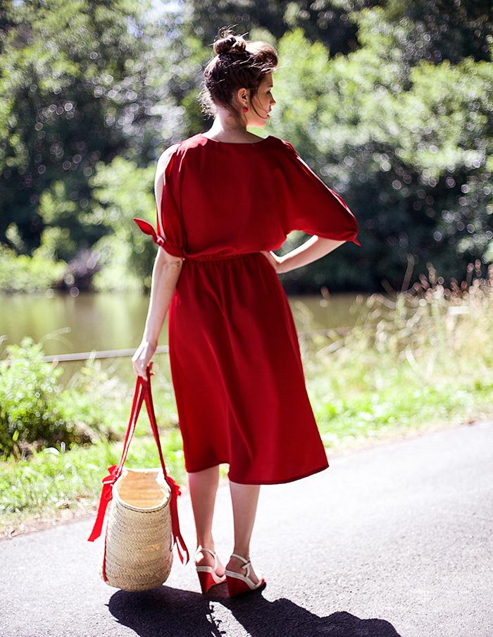 Robe rouge Francesca Aurore Gwladys
