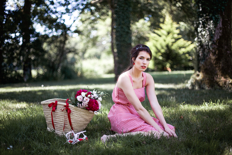Robe rouge vichy Gloria Aurore Gwladys