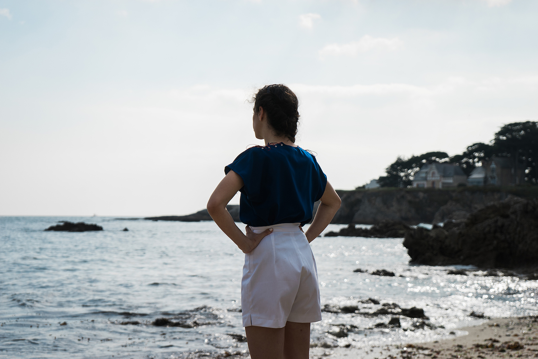Dos du Short Boy Aurore Gwladys