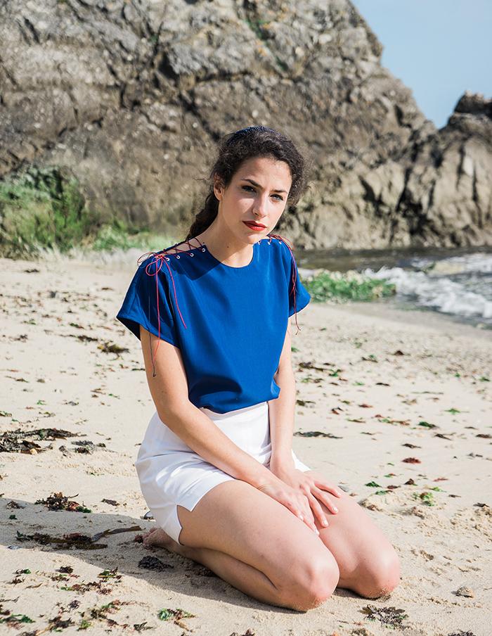Top Grace bleu Aurore Gwladys