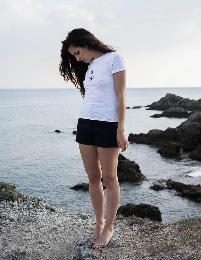 Tee-shirt blanc et brodé Jane Aurore Gwladys