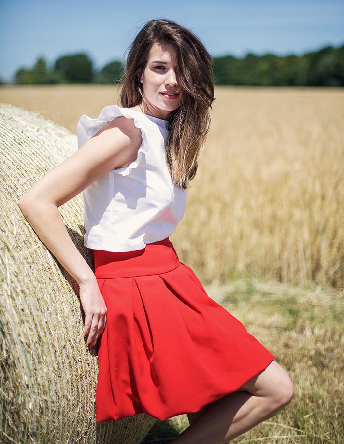 Top blanc Elisa Aurore Gwladys