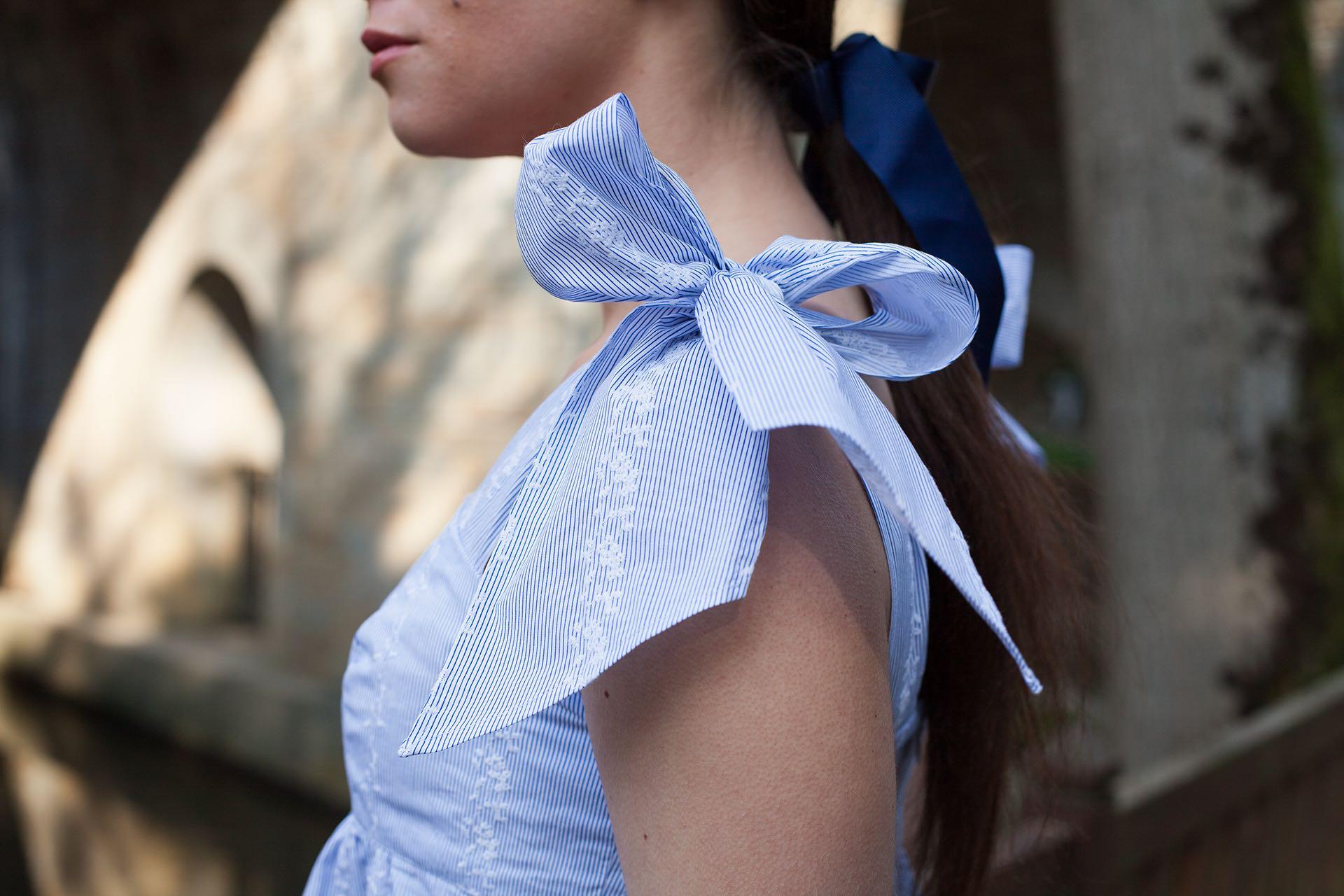 Top bleu Cassandre Aurore Gwladys