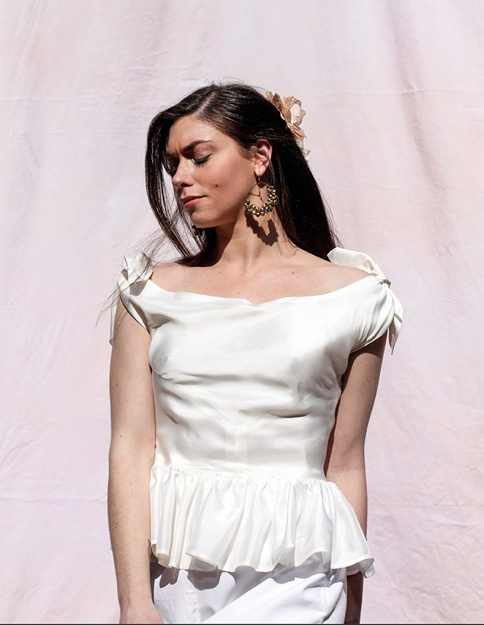 Top creme Nina Aurore Gwladys