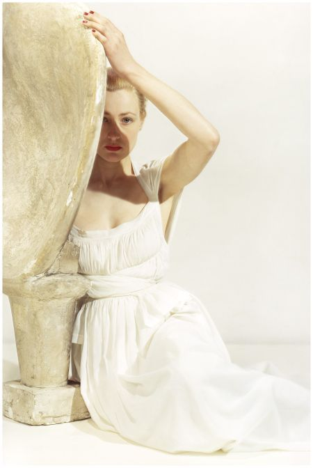 Inspiration collection So Lovely Aurore Gwladys Vogue, July 1946, by Clifford Coffin