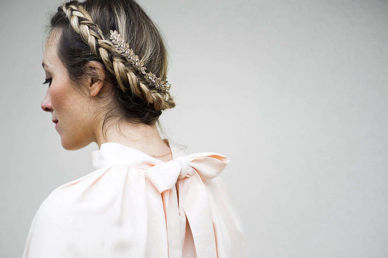 Dos de la blouse Anastasia rose Aurore Gwladys