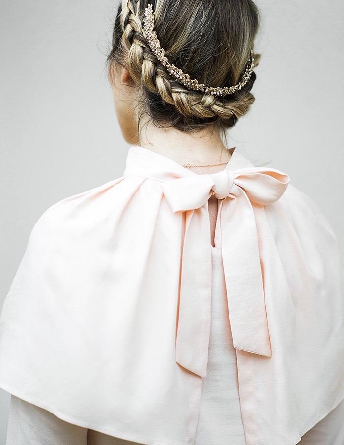 Noeud de la blouse Anastasia rose Aurore Gwladys