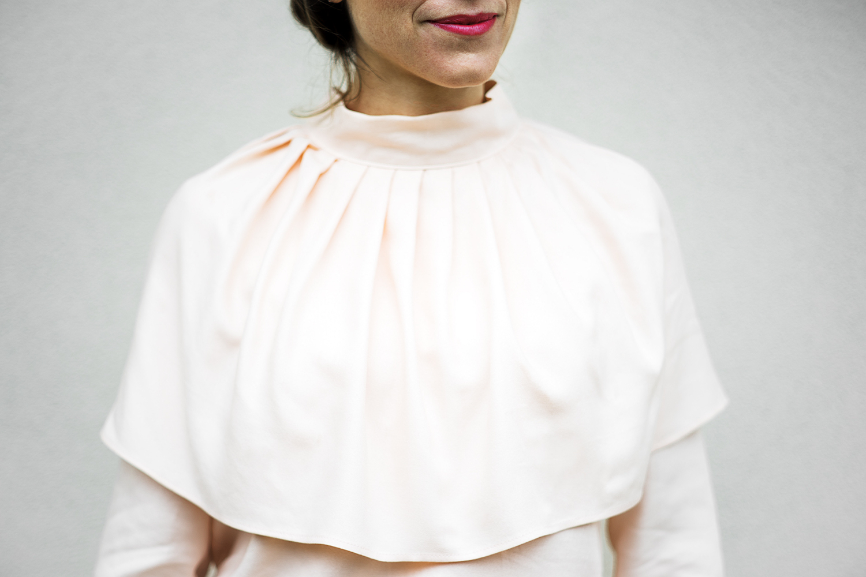 Blouse Anastasia rose Aurore Gwladys