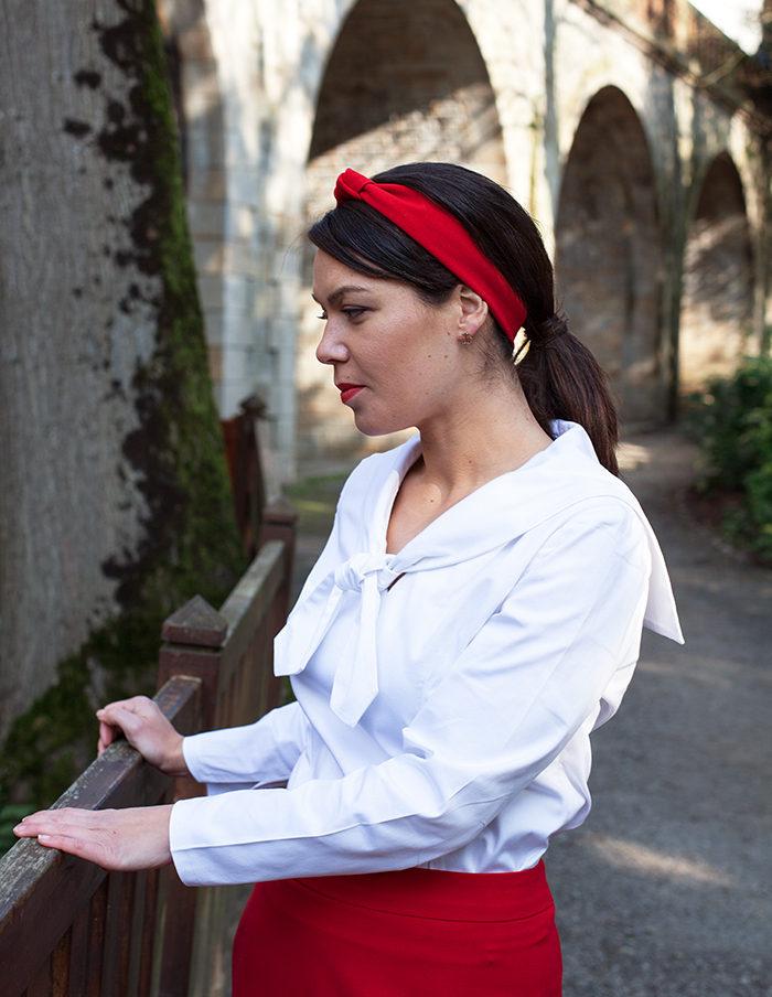 Blouse blanche Jeanne Aurore Gwladys