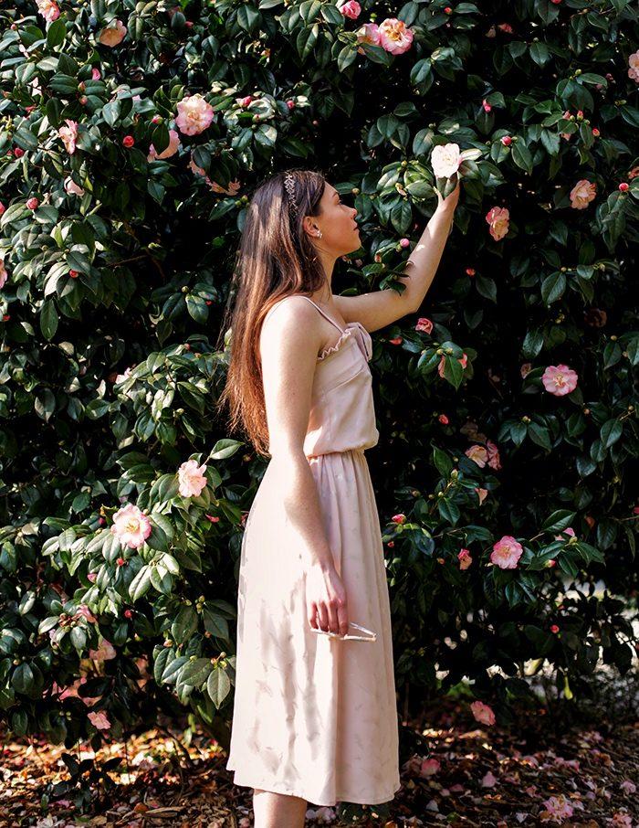 Robe Ines rose Aurore Gwladys