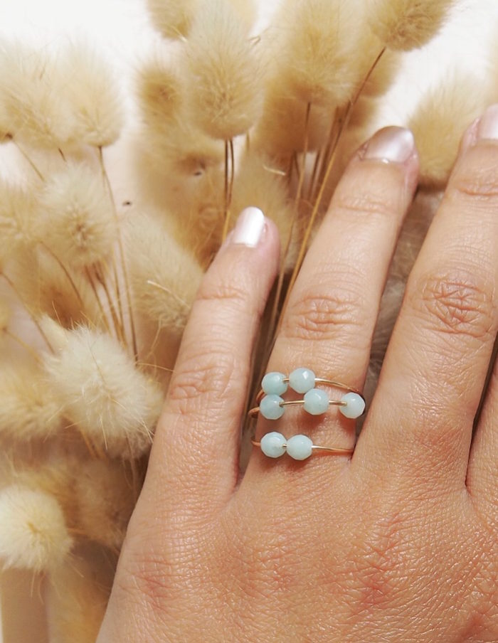 Bague amazonite aurore gwladys
