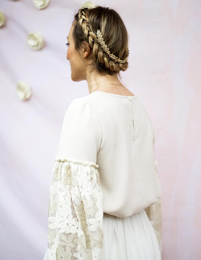Dos de la blouse Juliette manches longues Aurore Gwladys