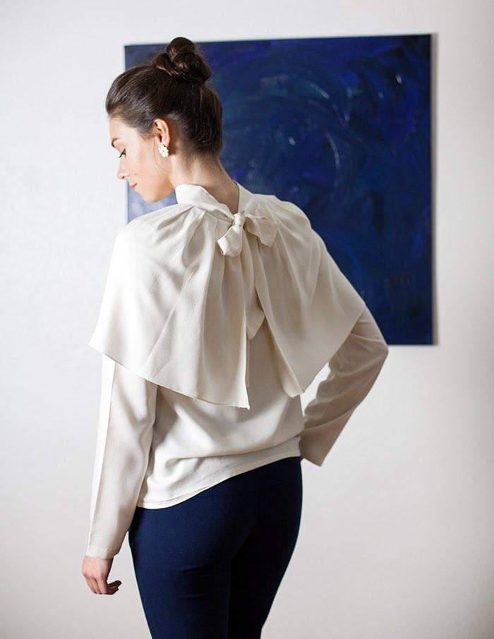 Blouse blanche Anastasia Aurore Gwladys