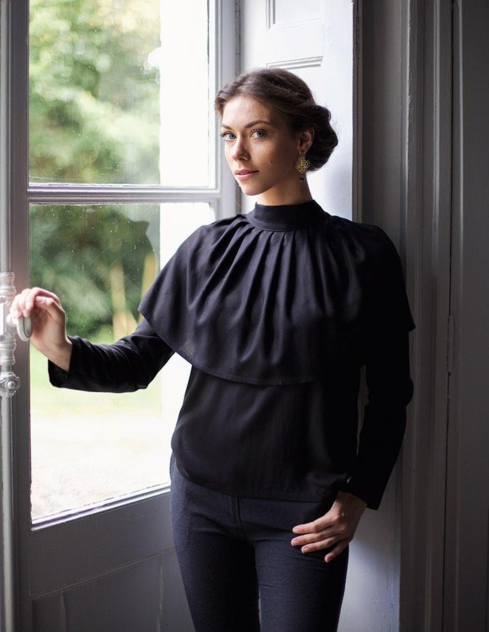 Blouse noire Anastasia Aurore Gwladys
