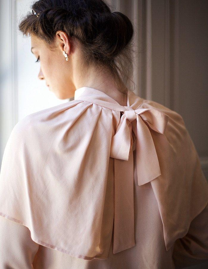 Blouse rose Anastasia Aurore Gwladys