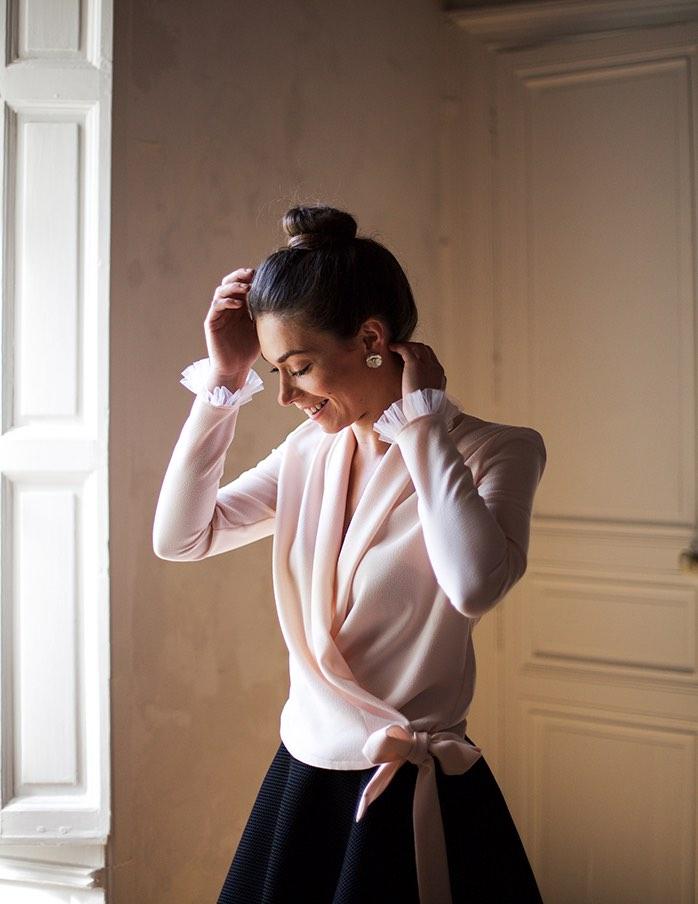 Cache-coeur rose Cleo Aurore Gwladys