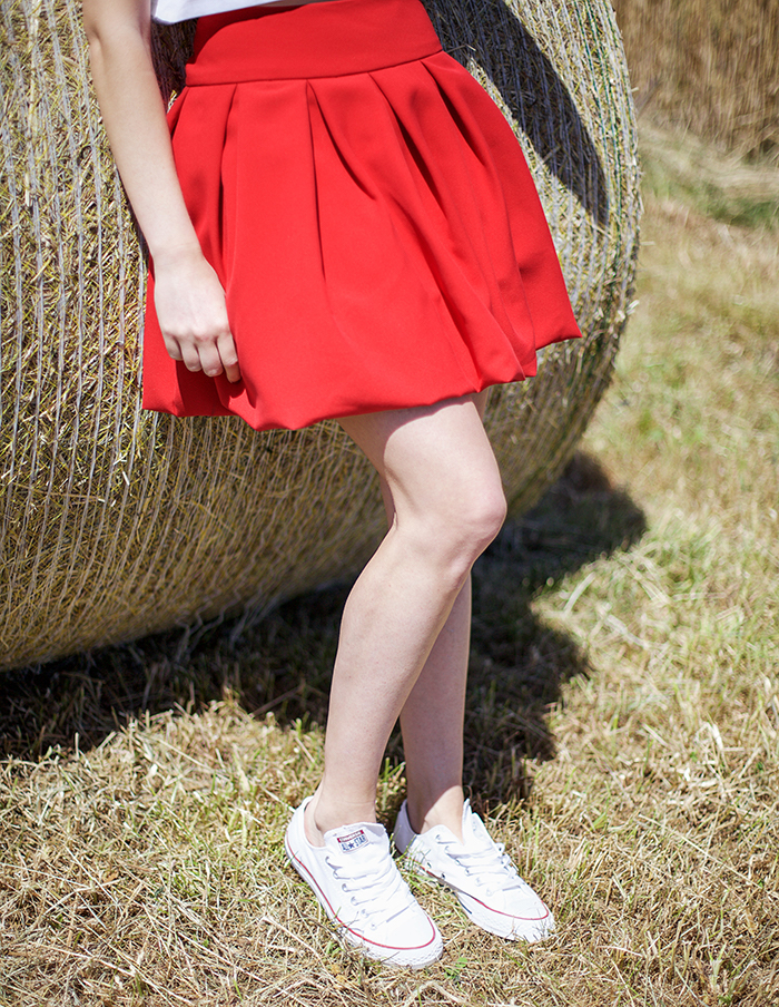 Jupe rouge Julia Aurore Gwladys