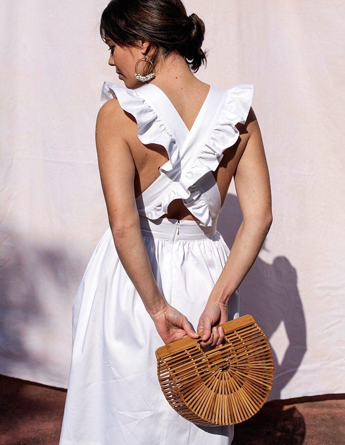 Robe blanche Thais Aurore Gwladys