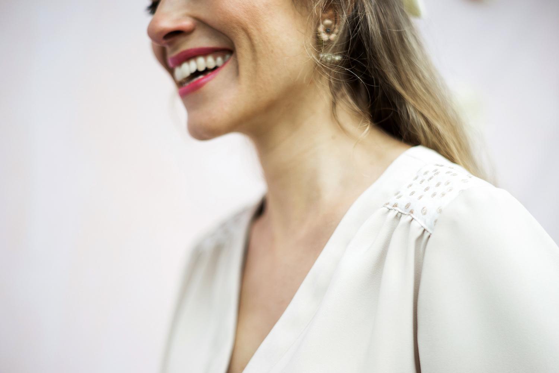 Détail de la robe porte-feuille Valentine Aurore Gwladys