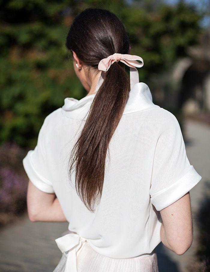 Top Chiara blanc Aurore Gwladys