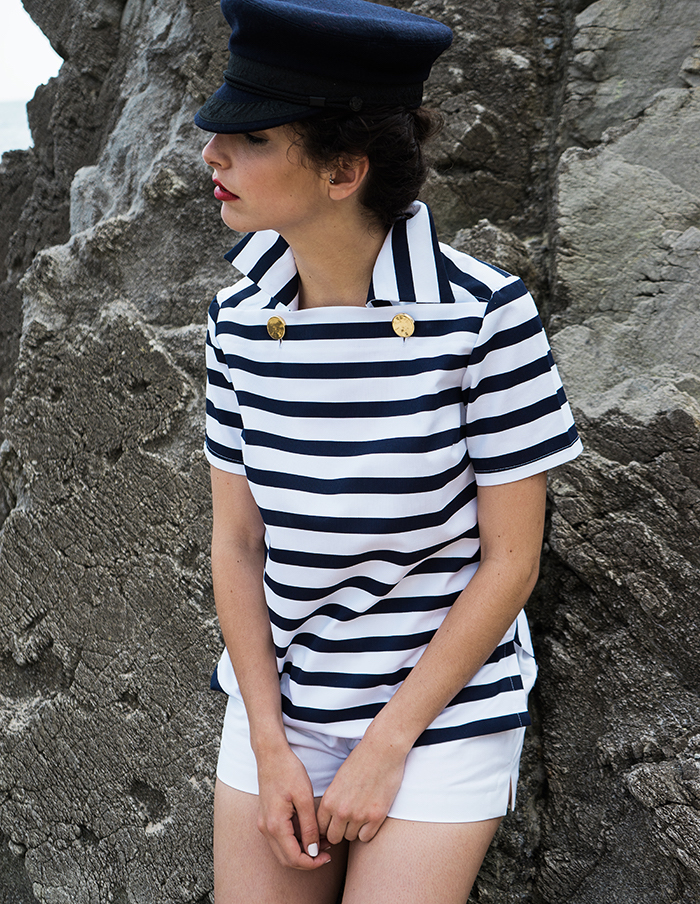 Vareuse rayée marine et blanche Louise Aurore Gwladys