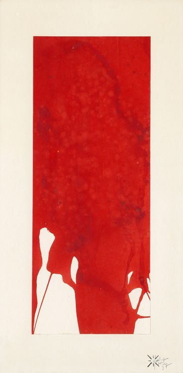 Monochrome Red Yves Klein 1957